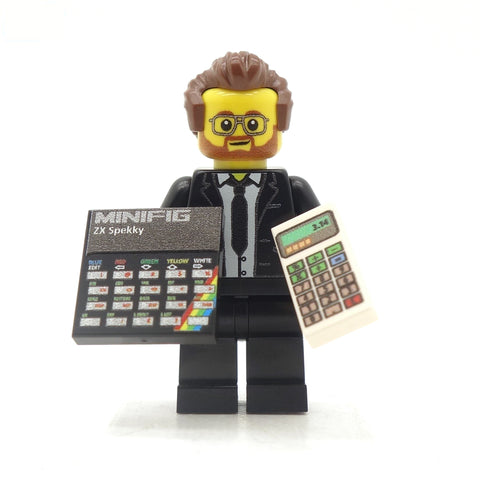 Clive Sinclair - Custom Design LEGO Minifigure
