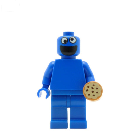 custom lego cookie monster minifigure sesame street