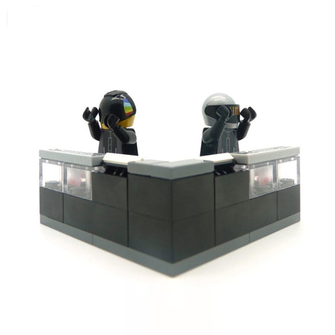 daft punk custom lego minifigures and DJ booth