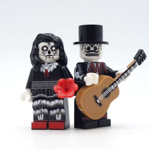 Day of the Dead Bride and Groom - Custom Design LEGO Minifigures