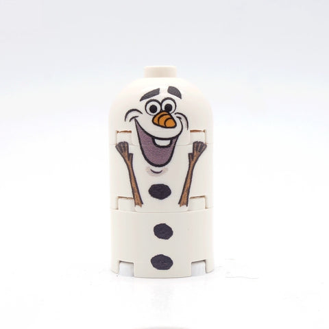 Snowman Custom printed brick figure
