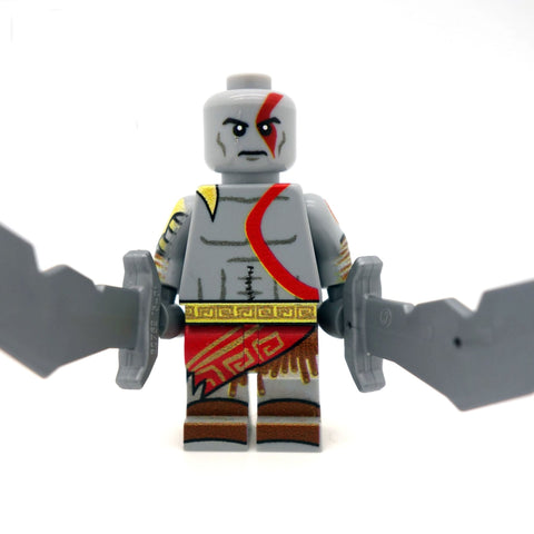 kratos god of war custom lego minifigure