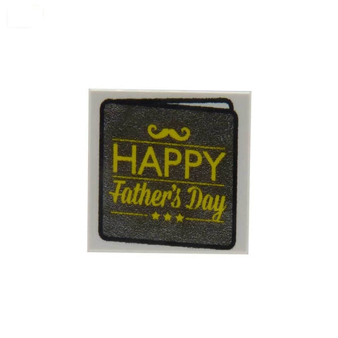 Happy Father's Day Card - Custom Printed LEGO Tile