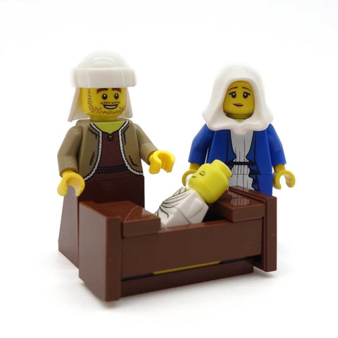 Joseph, Mary & Jesus Custom LEGO Minifigure Set
