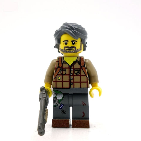 custom joel the last of us lego minifigure