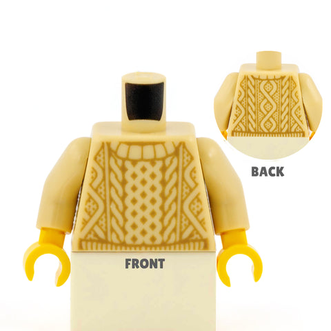 Light Tan LEGO Cable Knit Jumper - LEGO Torso