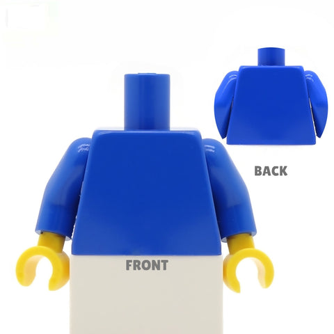 School Blazer (Various Colours) and Striped Tie  - Custom Design Minifigure Torso