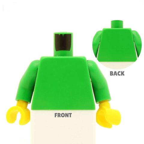 Open Denim Shirt (Various Colours) over T Shirt - Custom Design Minifigure Torso