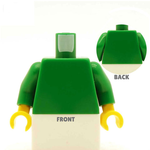 Stripey Shirt with Heart Collar (Various Colours) - Custom Design Minifigure Torso
