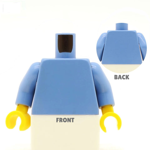Open Suit Jacket (Various Colours), No Tie  - Custom Design Minifigure Torso