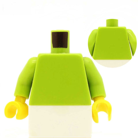 Breast Pockets Open Jacket (Various Colours) over T Shirt - Custom Design Minifigure Torso
