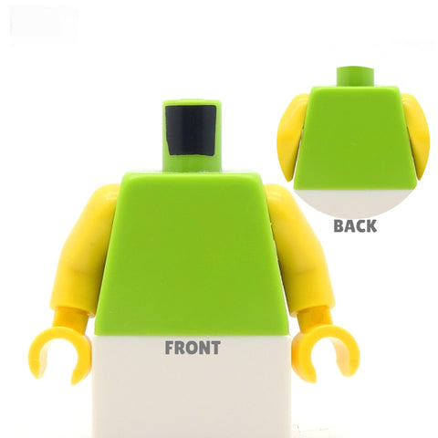 Racer Back Sports Bra (Various Colours) - Custom Design Minifigure Torso