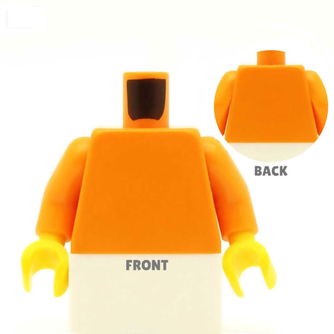 Stripey Shirt (Various Colours) and Tie - Custom Design Minifigure Torso