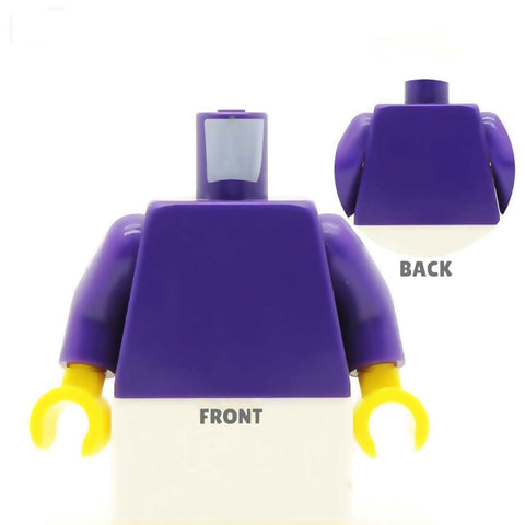 Smart Suit (Various Colours) with Fancy Striped Tie - Custom Design Minifigure Torso