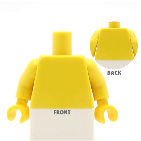Sporty Top (Various Colours) - Custom Design Minifigure Torso