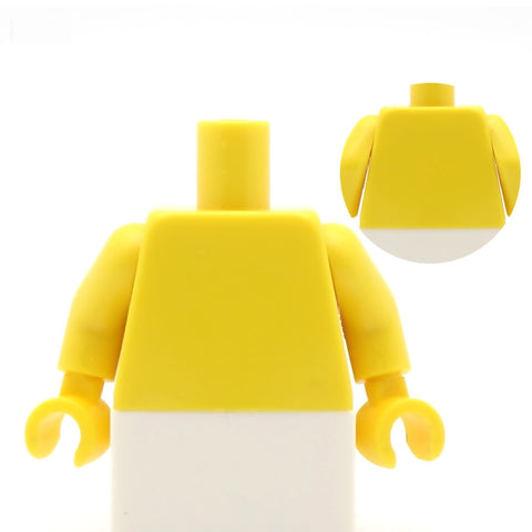 Simple Strapless Wedding Dress Torso (Various Colours) - Custom Design Minifigure Torso