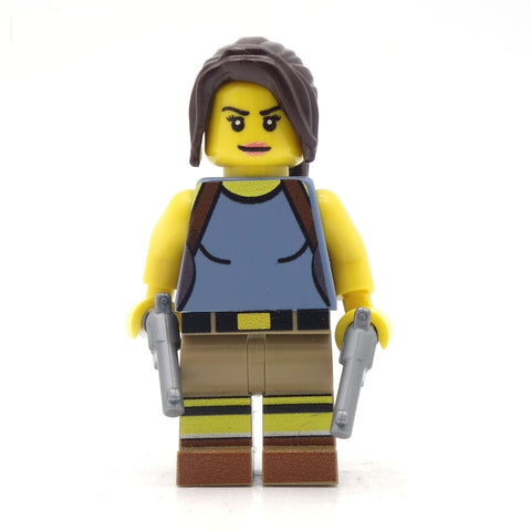 lara croft custom lego minifigure tomb raider