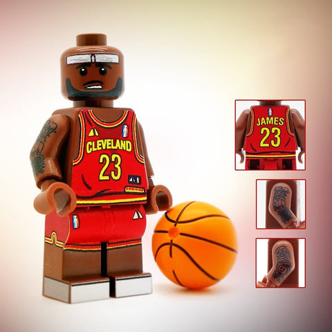 LeBron, Basketball Playing Icon - Custom Design LEGO Minifigure