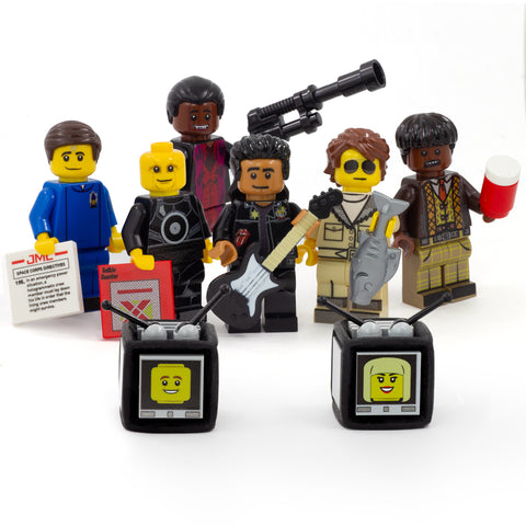 Red Dwarf, Cult Classic Space Comedy Full Set - Custom Design LEGO Minifigures, Accessories and TVs