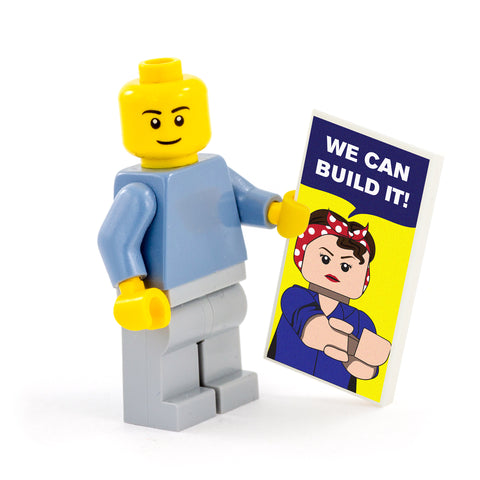 We Can Build It Poster - Custom Design Tile