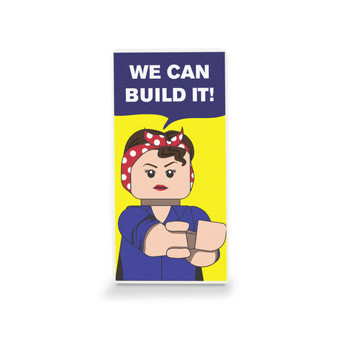 We Can Build It Poster - Custom Design LEGO Tile