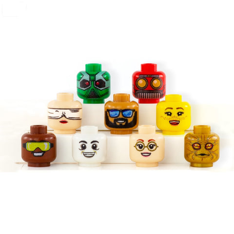 Bespoke Head (Various Colours) - Custom Designed LEGO Minifigure Head