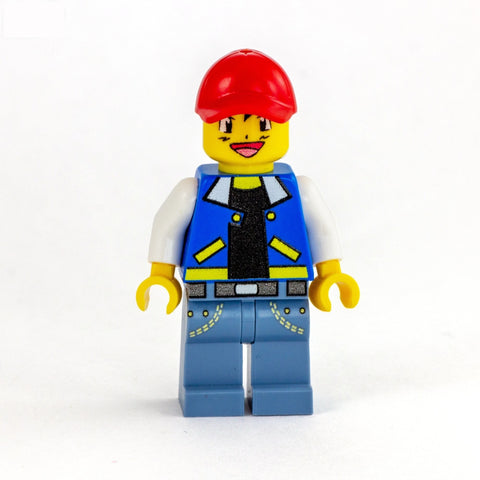 Ash Ketchum (with optional Brickahu Brickfig), Pokemon - Custom LEGO Minifigure and Brick Figure