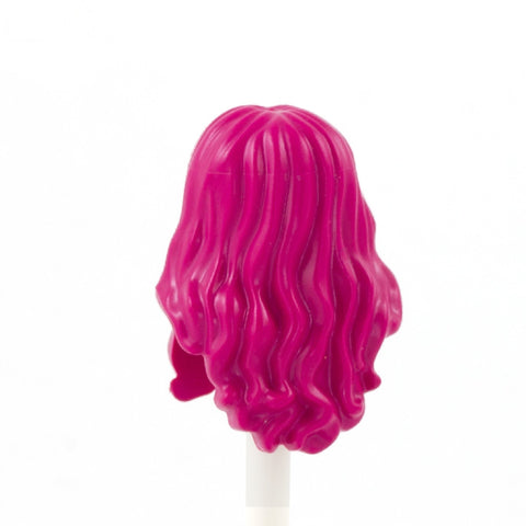 Pink Long Curly Over The Shoulder - LEGO Minifigure Hair