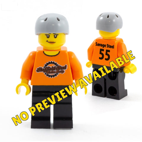 Personalised Roller Derby Player - Custom Design Minifigure