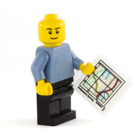 Ordnance Survey (OS) Map - Custom LEGO Tile