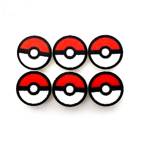 Catch 'Em Pokemon Balls (pack of 6) - Custom Printed LEGO Tiles