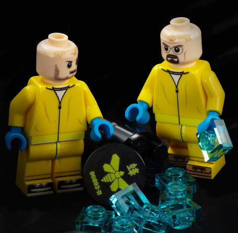 Walt and Jesse in HAZMAT suits - Custom Design Minifigures