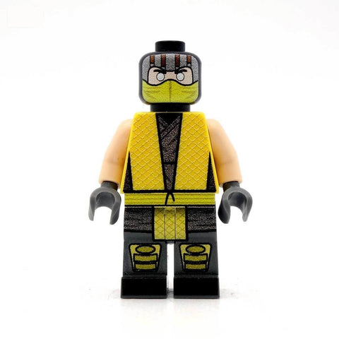 custom lego scorpion mortal kombat minifigure