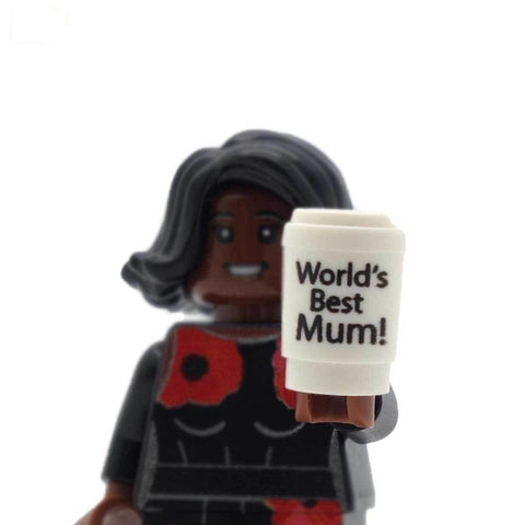 LEGO Minifigure Holding World's Best Mum Custom Mug