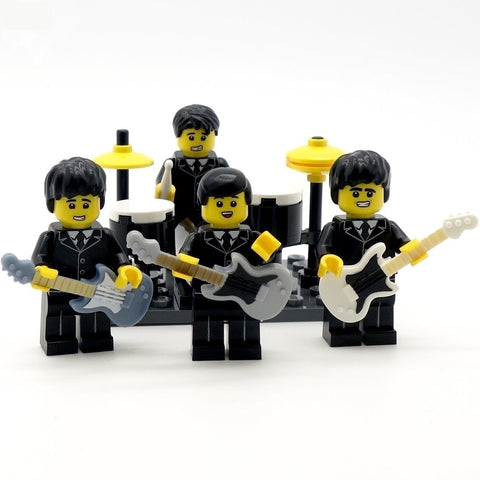 beatles custom lego minifigures
