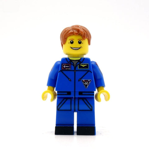 Tim Peake in Blue Custom Minifigure