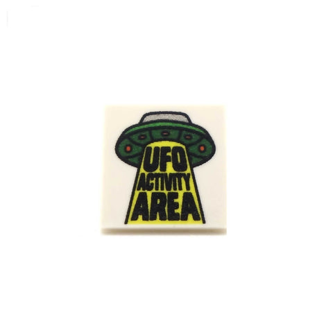 UFO Activity Area - Custom Printed LEGO Tiles and LEGO Accessories