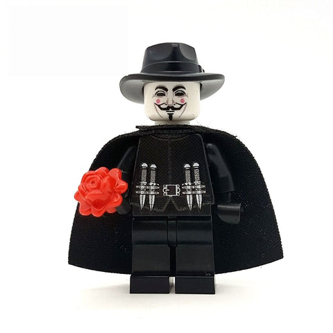 Antihero in a Guy Fawkes Mask - Custom Design Minifigure