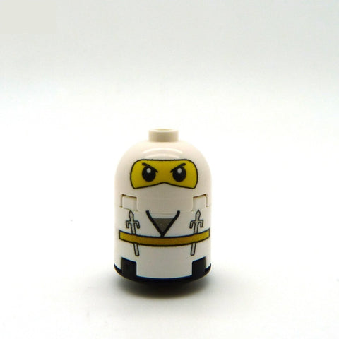 White Ninja Custom LEGO Brick Figure