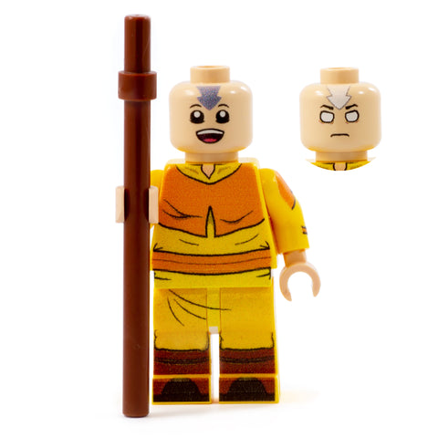 Aang, Element Bender Gang - Custom Design Minifigure