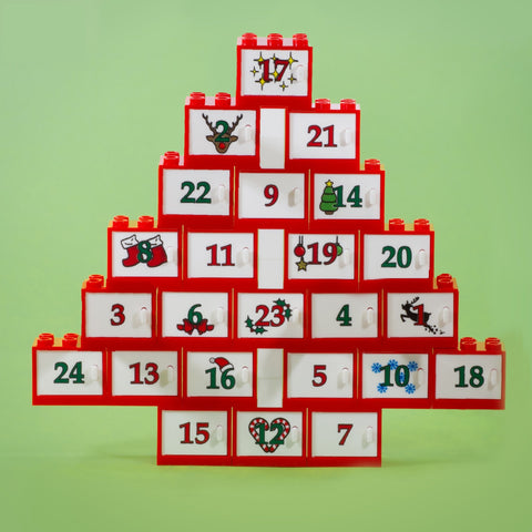 Build Your Own Advent Calendar - 24 Custom Printed Doors and Compartments