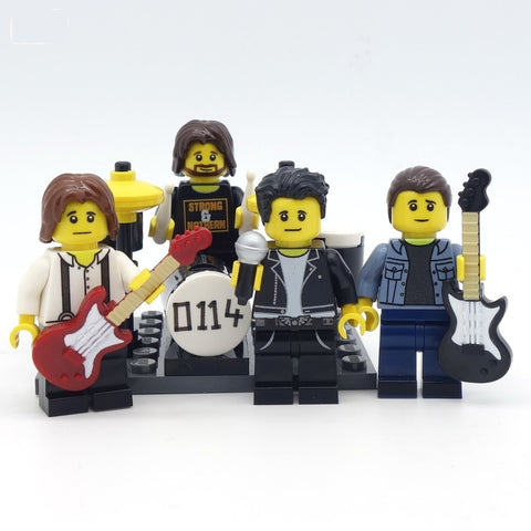 Mardy Bums Arctic Monkeys Custom LEGO Minifigures