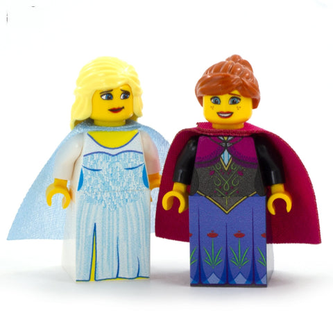 Anna and Elsa, Frozen, Ice Queen & Ice Princess - Custom Design LEGO Minifigure