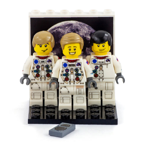 Collectors Edition Apollo 11 Crew - Custom Design Minifigures