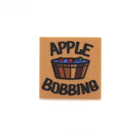 Apple Bobbing Sign - Custom Printed LEGO Tiles and LEGO Accessories