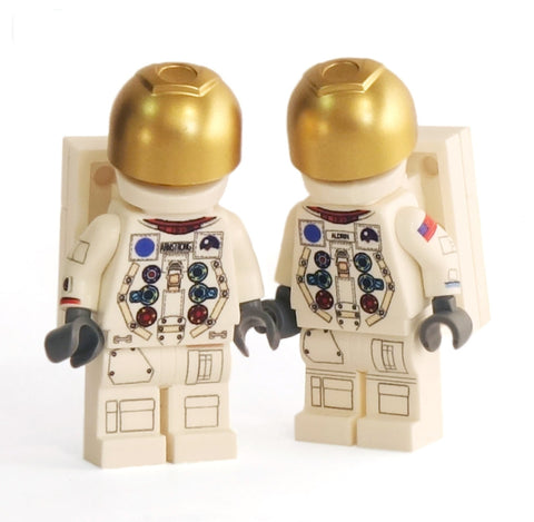 Pair of Apollo Astronauts - Custom Lego Minifigures