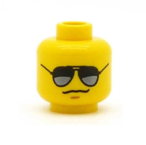 Aviator Sunglasses LEGO Minifigure Head