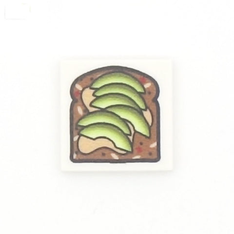 Avocado on Toast - Custom Printed LEGO Tile