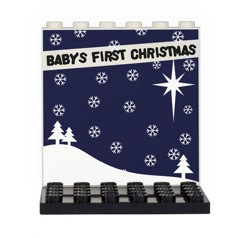 Baby's First Christmas 'Snowscape' Back Panel- Custom Design Display Panel and Stand