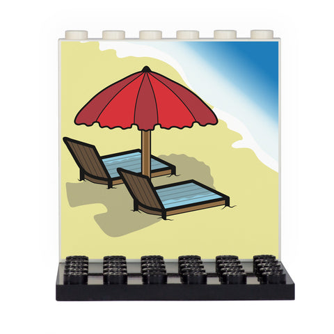 Beach Back Panel- Custom Design Display Panel and Stand